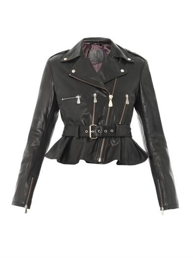 McQ Alexander McQueen Peplum leather jacket
