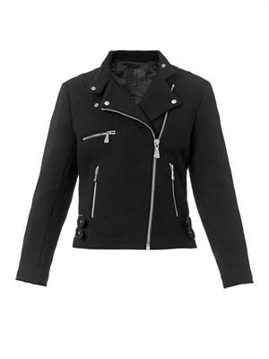 Melton-wool biker jacket
