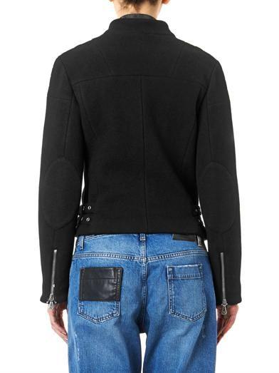 McQ Alexander McQueen Melton-wool biker jacket