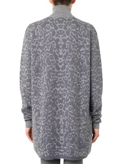 McQ Alexander McQueen Oversized leopard-jacquard sweater