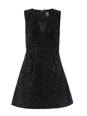 Flocked paisley dress