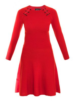 Safety pin knitted dress