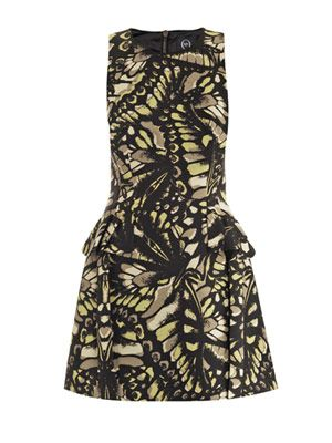 Butterfly-print mini dress