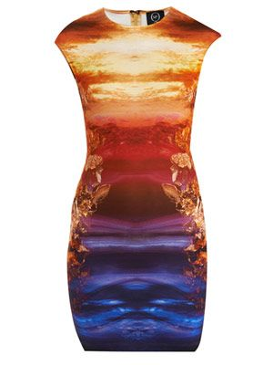 Mineral print bodycon dress