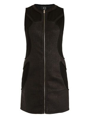 Moto raffia zip-front dress