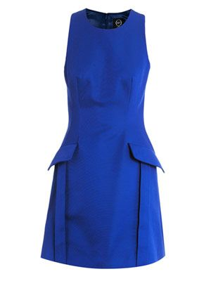 Pocket side fitted dress