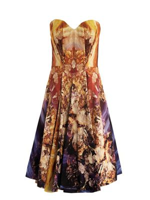 Mineral-print envelope dress