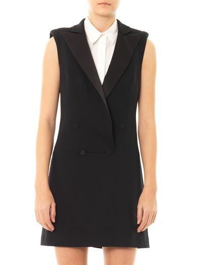 McQ Alexander McQueen Satin lapel tuxedo dress