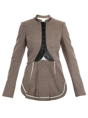 Tweed kick-pleat jacket