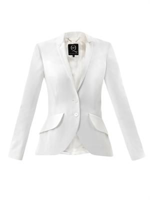 Bustle back cotton blazer