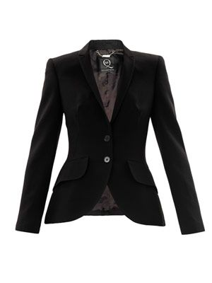 Bustle back wool blazer