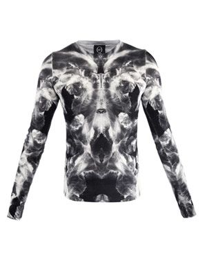 Mirrored iris-print sweater