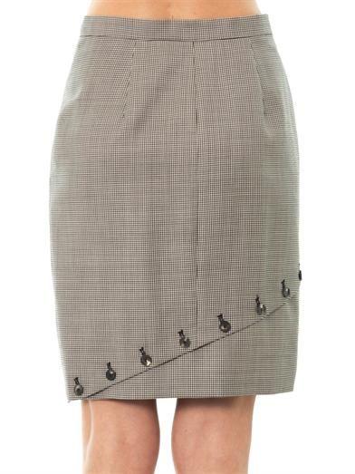 McQ Alexander McQueen Houndstooth asymmetric panel skirt