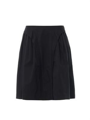 Suspended cotton-blend skirt