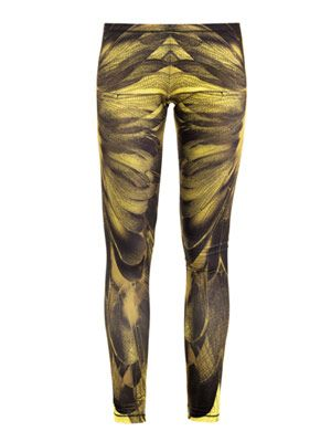 Dragonfly-print leggings