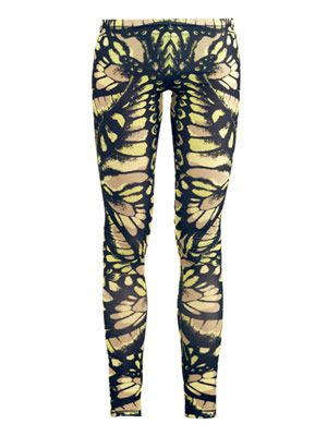 Butterfly-print leggings