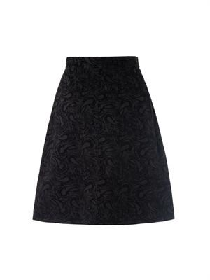 Paisley flocked skirt