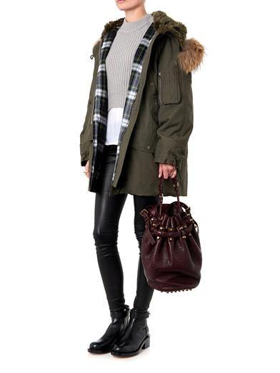 McQ Alexander McQueen Fur-trimmed parka coat