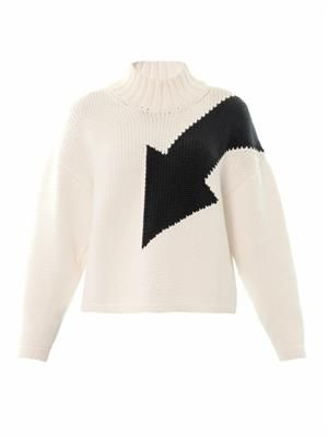 Arrow intarsia-knit sweater