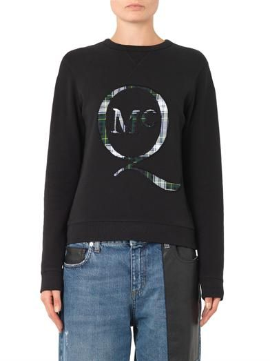 McQ Alexander McQueen Tartan-logo sweatshirt