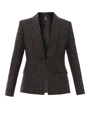 Cross-print tailored jacket