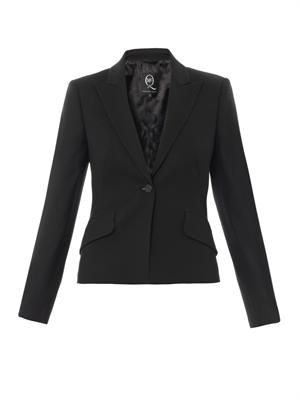 Bustle back tailored jacket