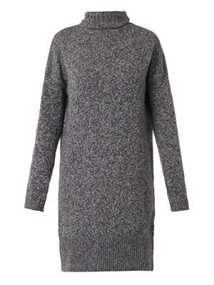 Wool and cashmere-blend knit dress