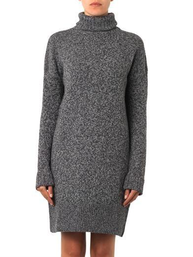 McQ Alexander McQueen Wool and cashmere-blend knit dress