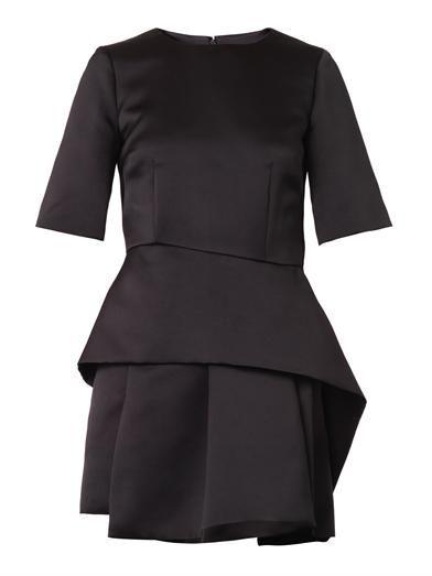 McQ Alexander McQueen Sculpted peplum satin dress
