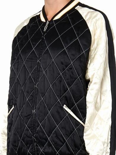 McQ Alexander McQueen Quilted satin bomber jacket