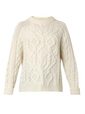 Aran cable-knit sweater