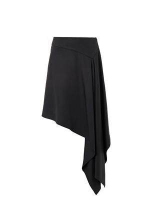 Waterfall-hem skirt
