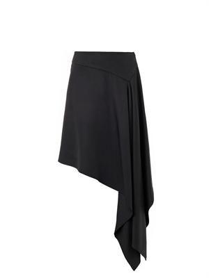 Waterfall-hem skirt
