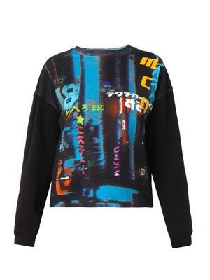 Hazy Night-print sweatshirt