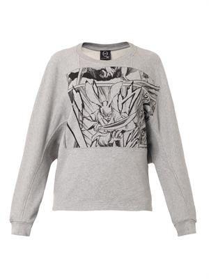 Manga-print cotton sweatshirt