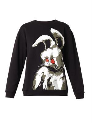 Angry Bunny-print sweatshirt