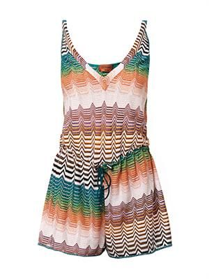 Chevron-knit playsuit