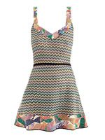Fish-print knitted beach dress