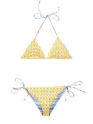Diamatino-knit reversible bikini