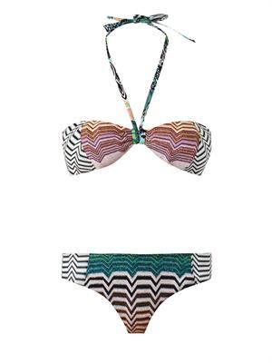 Reversible crochet-knit bandeau bikini