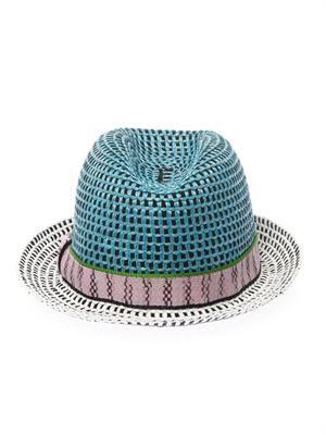 Raffia trilby hat