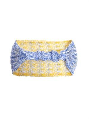 Reversible zigzag knit headband