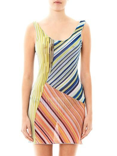 Missoni Mare Metallic stripe-knit kaftan