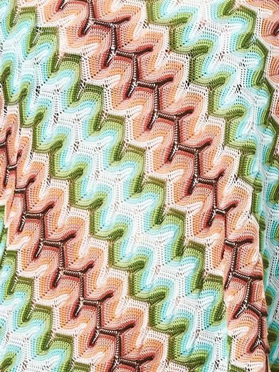 Missoni Mare Sfumato one-shoulder zigzag poncho