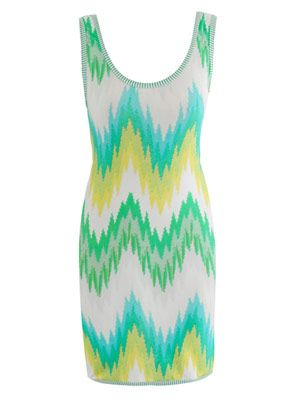 Printed chevron dress
