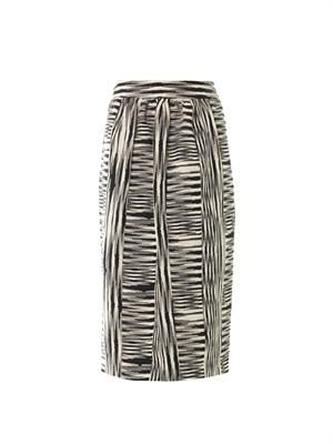 Patchwork Ikat weave pencil skirt