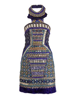 Bhangra beaded dress