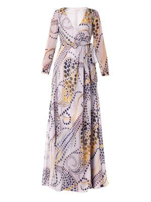 Paisley Star-print silk-chiffon dress
