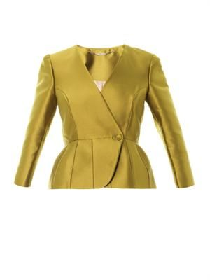 Luster tailored peplum jacket
