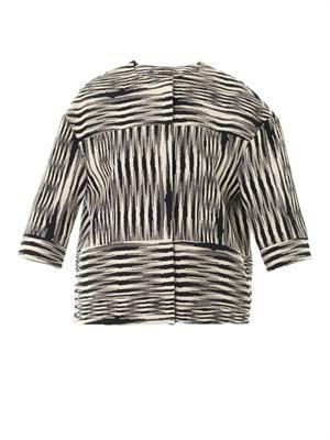 Patchwork Ikat weave jacket